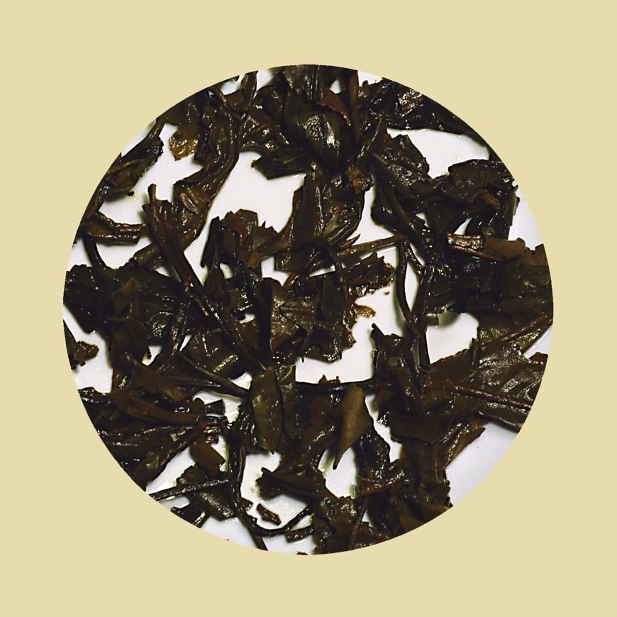 Sheng puerh - vyluhovaný list